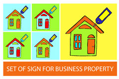 Business property symbols. Set of Business property symbols Stock Image