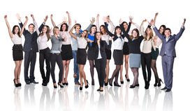 Business prople whith hands up Royalty Free Stock Photography