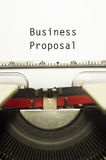 Business proposal Royalty Free Stock Photos