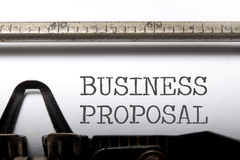 Business proposal Stock Images