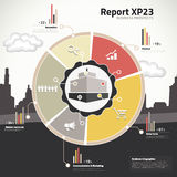 Business prospects. A business prospects report for presentions with icons and symbols Stock Photo