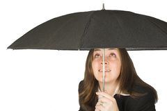 Umbrella protection Stock Photo