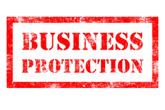 Business Protection rubber stamp. Protection rubber stamp in red ink Stock Image