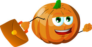 Business pumpkin Stock Images