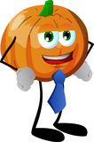Business pumpkin wearing tie Stock Photography