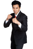 Business punch or fight Royalty Free Stock Images
