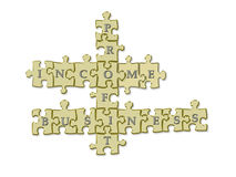 Business puzzle Royalty Free Stock Photography