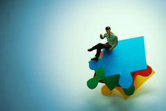 Business Puzzle Stock Photo