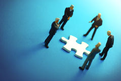 Business Puzzle Stock Photography