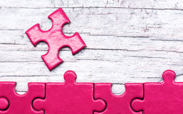Business puzzle background Stock Photography
