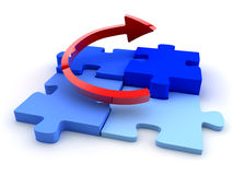 Business puzzle chart Stock Photo