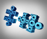 Business Puzzle Merging Together Stock Images