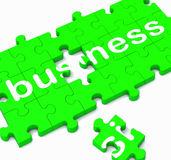 Business Puzzle Showing Commercial Transactions Stock Images