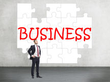 Business puzzle Royalty Free Stock Image