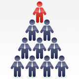 Business Pyramid Stock Photo