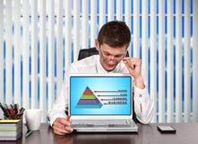 Business pyramid Stock Image