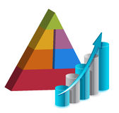 Business pyramid chart illustration Stock Photo
