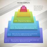 Business-pyramid-concept-brochure-page-background Royalty Free Stock Photography