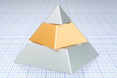 Business pyramid concept. 3D. Rendering Stock Photography