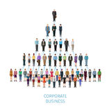 Business pyramid concept. Modern illustration -  vector concept of business organisation Royalty Free Stock Image