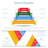 Business pyramid infographic  Stock Photo