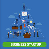 Business pyramid infographics Royalty Free Stock Photos