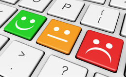 Business Quality Customer Feedback Keyboard Stock Photography