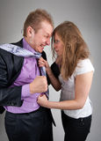 Business quarrel Stock Images