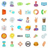 Business quarter icons set, cartoon style. Business quarter icons set. Cartoon set of 36 business quarter vector icons for web isolated on white background Royalty Free Stock Images