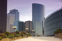 The business quarter of La defense in Paris Royalty Free Stock Photography