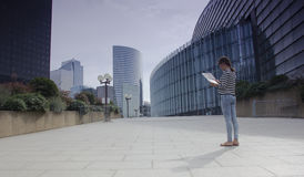 The business quarter of La defense in Paris Stock Images