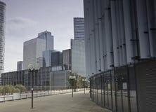The business quarter of La defense in Paris Stock Photos