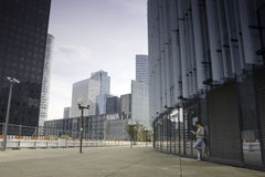 The business quarter of La defense in Paris Stock Photo