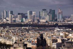 Business quarter in Paris Stock Image