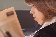Business read. Portrait of a businesswoman when working. Shot in office Stock Image