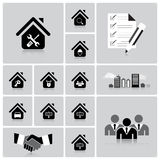 Business And Real Estate Icon Set Stock Images