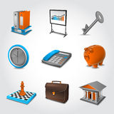Business Realistic Icons Royalty Free Stock Photo