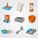 Business realistic icons Stock Image