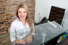 Business receptionist Stock Image