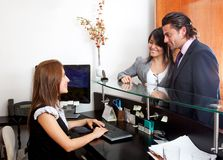 Business receptionist Royalty Free Stock Images