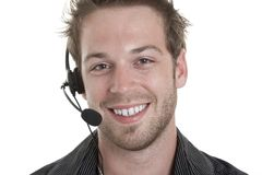 Business receptionist men of 30 years old Stock Images