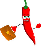 Business red hot chili pepper Royalty Free Stock Image