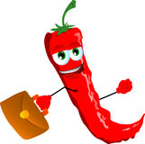 Business red hot chili pepper Stock Image