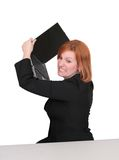 Business redhead over white Royalty Free Stock Photo