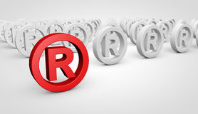 Business Registered Trademark Symbol Concept Royalty Free Stock Photos
