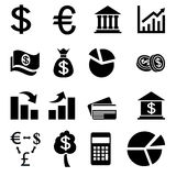 Business related currency icons. Some flat icons using in business apps Stock Images