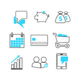 Business related icons Royalty Free Stock Photography