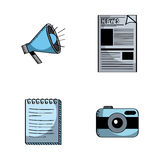 Business related icons Stock Images