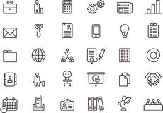 Business related icons Royalty Free Stock Images