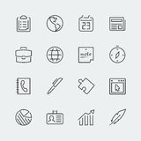 Business related vector icons Royalty Free Stock Photography